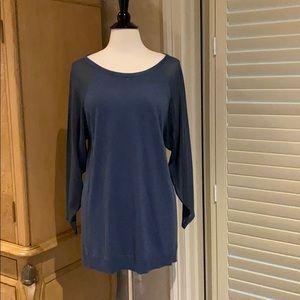 Soft surroundings navy blue sweater